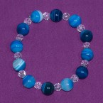 Blue Stripe Agate Bracelet