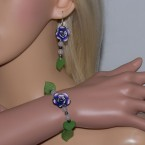 Green Leaf Multi-Colour Rose Set