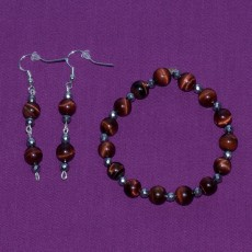 Red Tiger's Eye Set