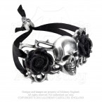 Skull And Briar Rose Bracelet