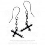 Sorrow Cross Earrings