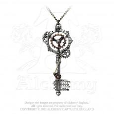 Septagramic Coercion Gearwheel Key Pendant