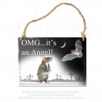 OMG It's An Angel Hanging Plaque