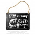 I'm Already Disturbed Hanging Plaque
