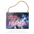 All The Cool People Are Freaks Plaque